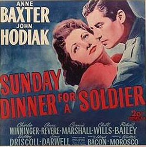 Sunday Dinner for a Soldier - Image: Sunday Dinner For A Soldier Poster