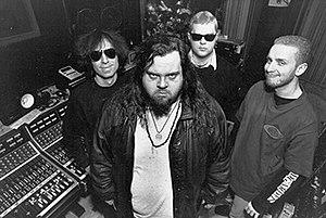 Tad (band) - L-R: Jack Endino, Tad Doyle, Kurt Danielson, and Josh Sinder.