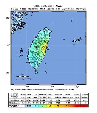 2009 Hualien earthquake - Intensity Map