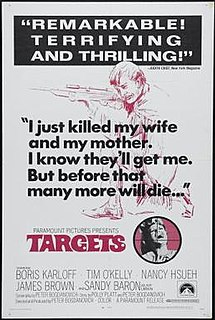 <i>Targets</i> 1968 film directed and co-written by Peter Bogdanovich