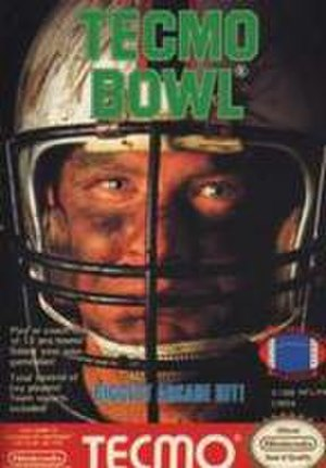 Tecmo Bowl - Box art of North American NES version.