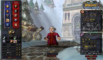 Gameplay of World of Warcraft - World of Warcraft Character creation screen showing the various options and races that can be chosen.
