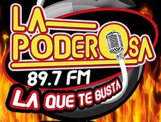 XHIP-FM - Image: XHIP XEIP La Poderosa 89.7 logo
