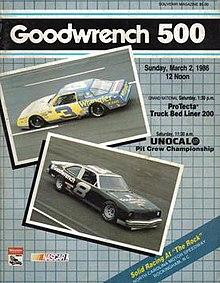 magazine Souvenir della 1986 Goodwrench 500