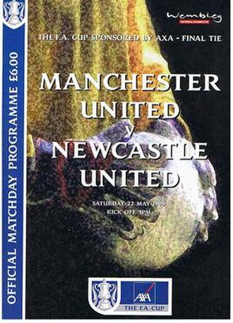 1999 FA Cup Final - Image: 1999 FA Cup Final programme