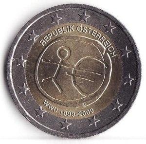 Austrian euro coins - Image: 2 euro österreich 10 jahre euro