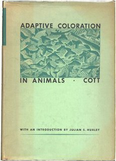 <i>Adaptive Coloration in Animals</i> 1940 textbook on camouflage, mimicry and aposematism by Hugh Cott