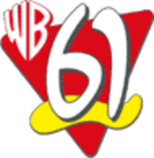 """KASW - The WB logo used by KASW when branded as """"WB61"""": used from 1995 to 2000."""
