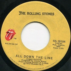 All Down the Line - Image: All Down the Line single label