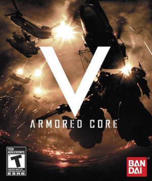 Armored Core V - North American cover art