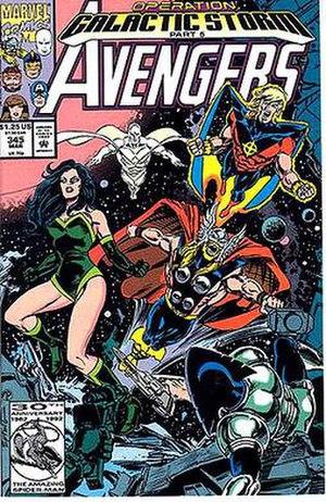 Operation: Galactic Storm - Image: Avengers 345