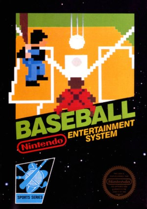 Baseball (1983 video game) - North American NES boxart