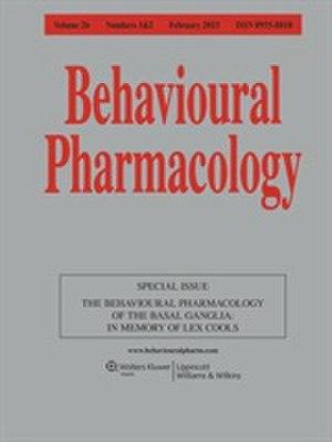 Behavioural Pharmacology (journal) - Image: Behav Pharmacol 2015 cover