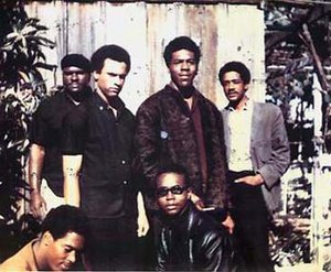 Identity politics - Image: Black Panther Party founders newton seale forte howard hutton