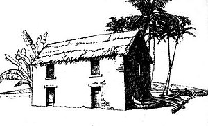 Brick Palace - Artist's conception of the Brick Palace from the Lahaina Restoration Foundation