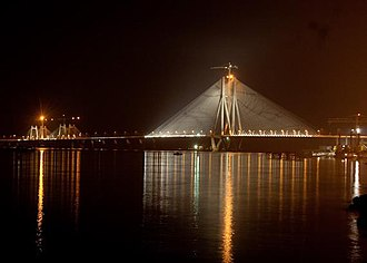 Mahim - Bandra Worli Sea Link across Mahim Bay