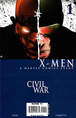 Civil War: X-Men - Cover of the 1st issue