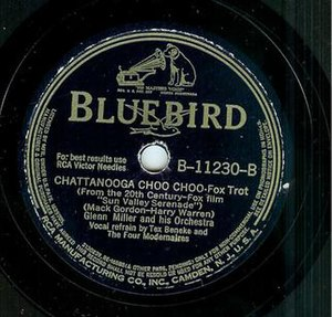"Harry Warren - 78 recording of ""Chattanooga Choo Choo"" by the Glenn Miller Orchestra with vocal solo by Tex Beneke"