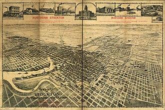 Stockton, California - City of Stockton in 1895