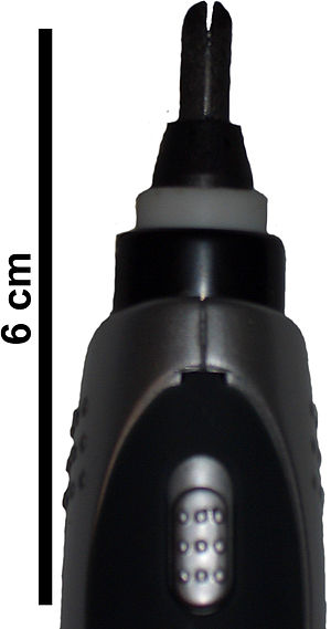 ColdHeat - The split tip of a ColdHeat soldering iron