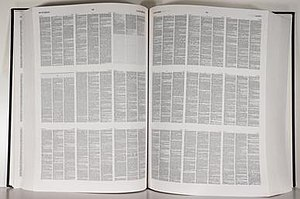 N-up - The 2nd edition of the Compact OED showing its 9-up layout