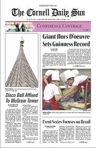 The Cornell Daily Sun - Image: Cornell Daily Sun