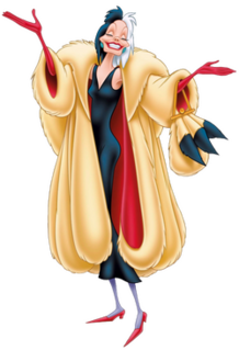 Cruella de Vil Fictional character in One Hundred and One Dalmatians