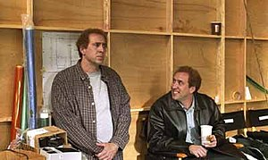 Adaptation (film) - Nicolas Cage portrays Charlie and Donald Kaufman through split screen photography.