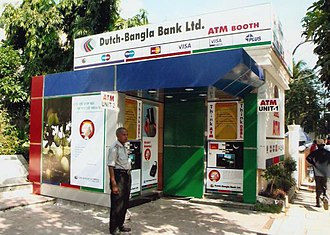 Dutch Bangla Bank - A DBBL Nexus ATM booth.