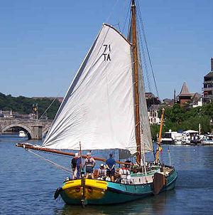 Dutch barge - Dutch barge at Namur