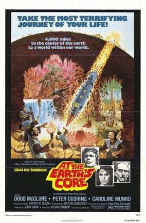 At the Earth's Core (film) - film poster by Tom Chantrell