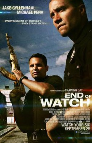 End of Watch - Theatrical release poster