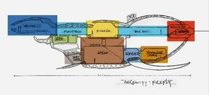 Serenity (Firefly vessel) - Image: Firefly layout
