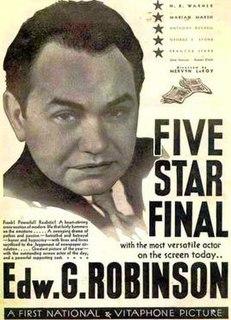 <i>Five Star Final</i> 1931 film by Mervyn LeRoy