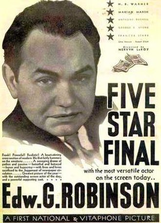 Five Star Final - 1931 Theatrical Poster