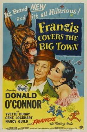 Francis Covers the Big Town - Theatrical release poster