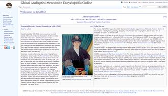 Global Anabaptist Mennonite Encyclopedia Online - Image: GAMEO