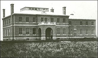 Government House (Saskatchewan) - Government House North-West Territories in 1892 shortly after building, before eastern ballroom built and gardens and trees planted