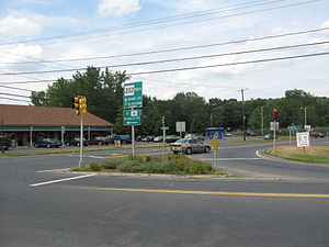Granby, Massachusetts - View of Five Corners in Granby