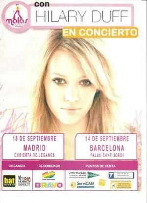 Hilary Duff concert tours - Image: H Duff 2004Spain Concerts Poster