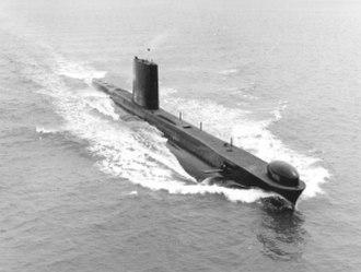 British Porpoise-class submarine - HMS Rorqual