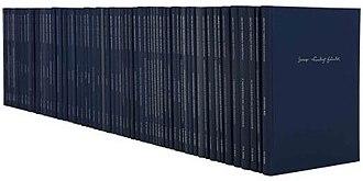 Hallische Händel-Ausgabe - The set of volumes in the Halle Handel Edition.
