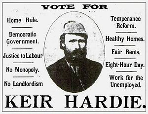 Keir Hardie - An election advertisement for Keir Hardie