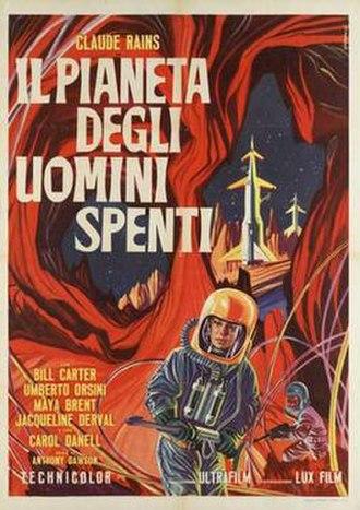 Battle of the Worlds - Image: Il pianeta degli uomini spenti italian movie poster md