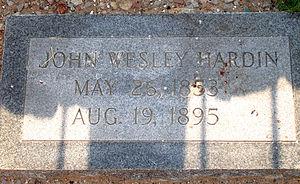 John Wesley Hardin - Image: Jw hardin gravestone