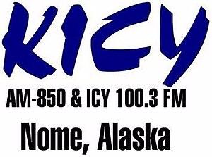 KICY-FM - Image: KICY AM 850 ICY100.3FM logo