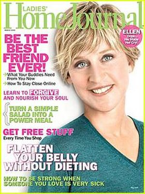 Ladies' Home Journal - March 2009 cover of Ladies' Home Journal featuring Ellen DeGeneres