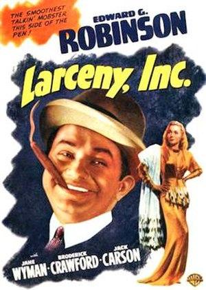 Larceny, Inc. - Image: Larceny Inc 1942 poster