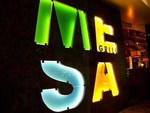 Bobby Flay - Entrance sign to Mesa Grill in Caesars Palace, Las Vegas