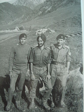 H. P. S. Ahluwalia - Major Ahluwalia (center) in his Army days